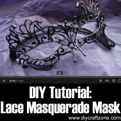 DIY Lace Masquerade Mask ►► http://www.diycraftzone.com/diy-lace-masquerade-mask/?i=p