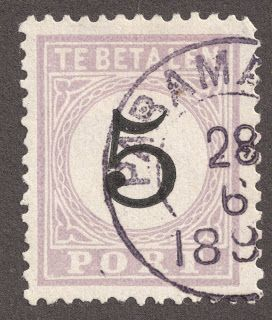 "Dutch East Indies  1882-88 Postage Due 5c: Comes in four engraving types 32 loops; ""T"" of ""Betalen"" is slightly to left of a loop Top branch of first ""E"" of ""Betalen"" shorter than lower branch Therefore Type III   ;-)"