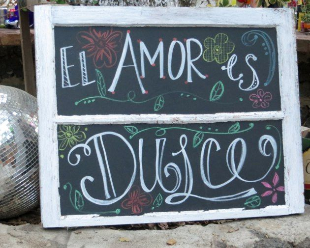 El Amor es Dulce -- Love is Sweet...this is cute for a wedding, bridal shower, or even to put near a Mexican candy bar!