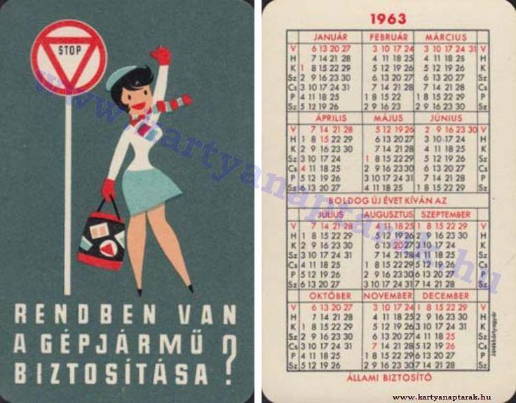 1963 - 1963_0103 - Régi magyar kártyanaptárak