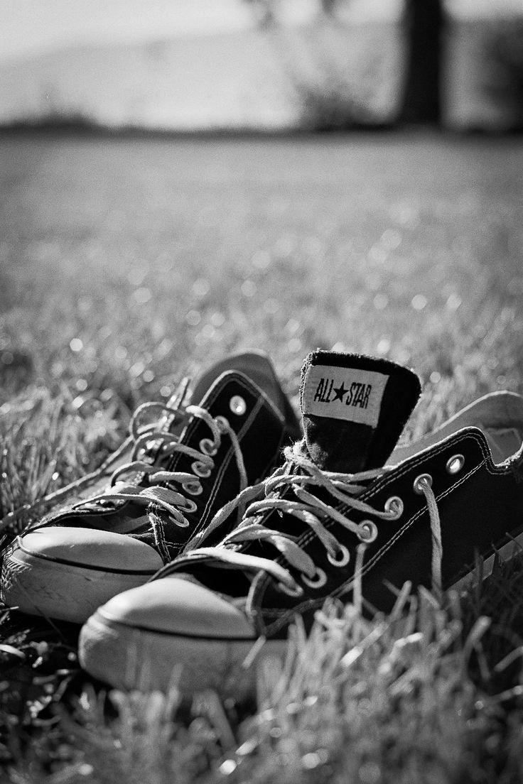 All Star - All Star - My Chucks in Black & White. Shot with the Olympus OM-2