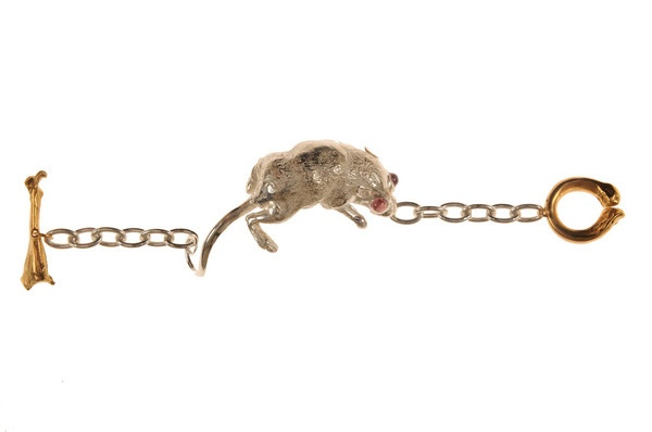 Claire English - Special Jewellery Company — The Mouse About Bracelet 2013 cast from a dead mouse found beneath her floorboards!