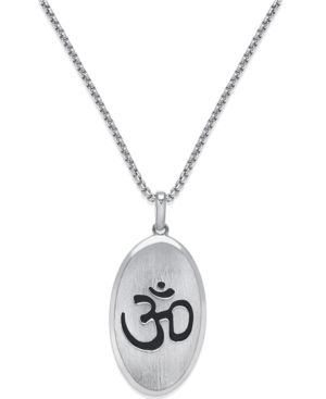 Om Pendant Necklace in Sterling Silver - Silver