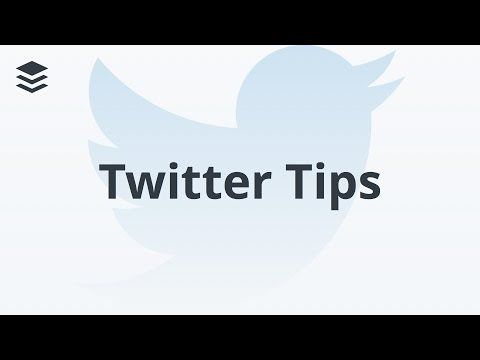 Top 5 Great Twitter Tips for Beginners - YouTube