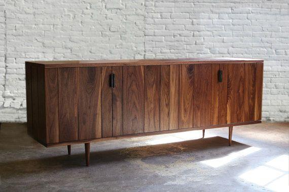 Finley credenza- mid century modern, danish modern, walnut sideboard