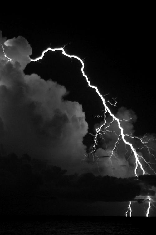 ☾ Midnight Dreams ☽  dreamy & dramatic black and white photography - night clouds