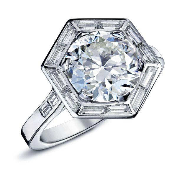 OCTAVIE Diamant  Bagues et Solitaires  OR BLANC DIAMANTS