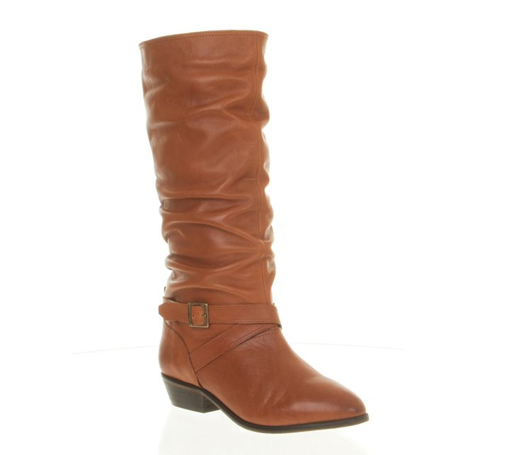 Office Albany Tan Leather - Knee Boots