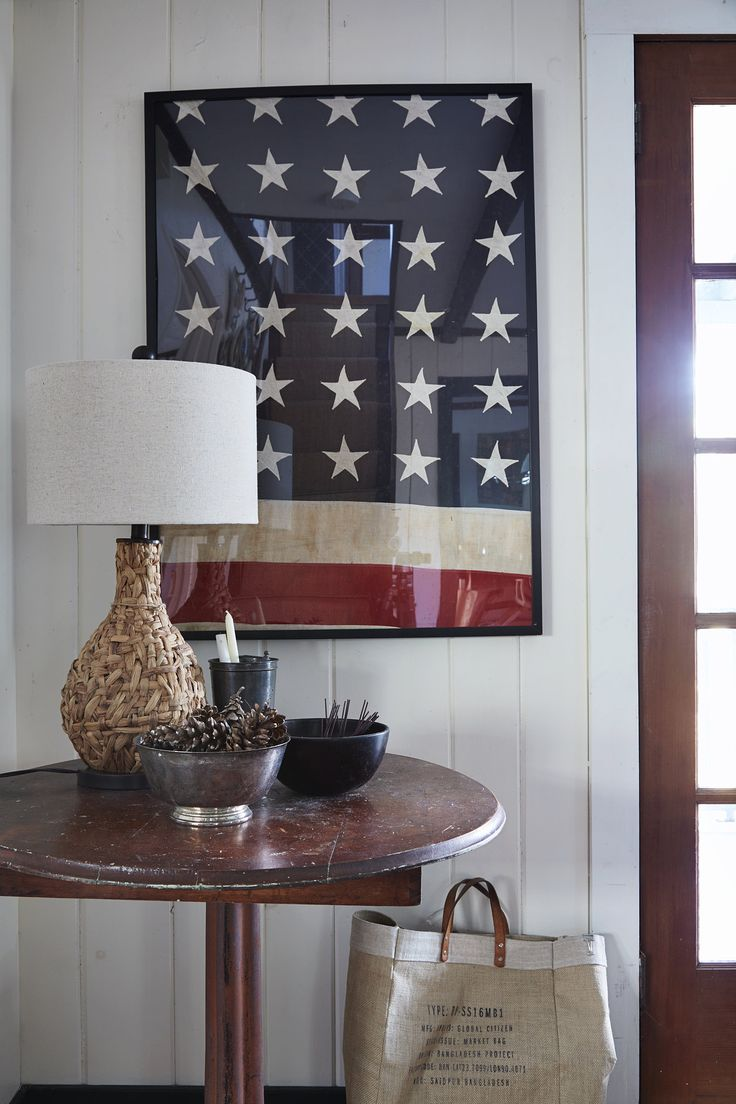 Flag framed as a piece of art, love this for the home
