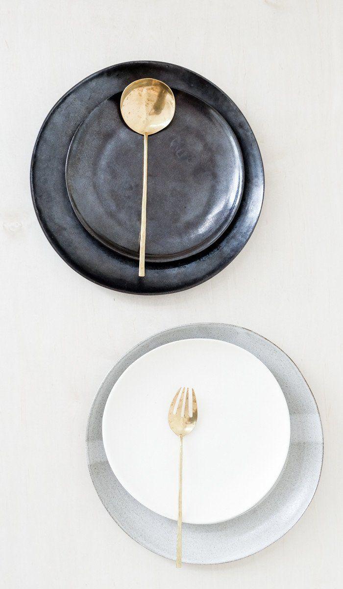 Eric Bonnin Ceramic Plates: Set of 4