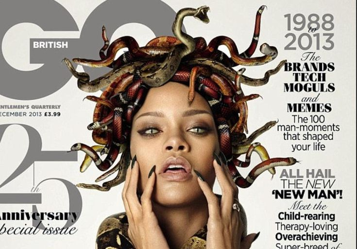 Rihanna's Illuminati Medusa GQ Cover
