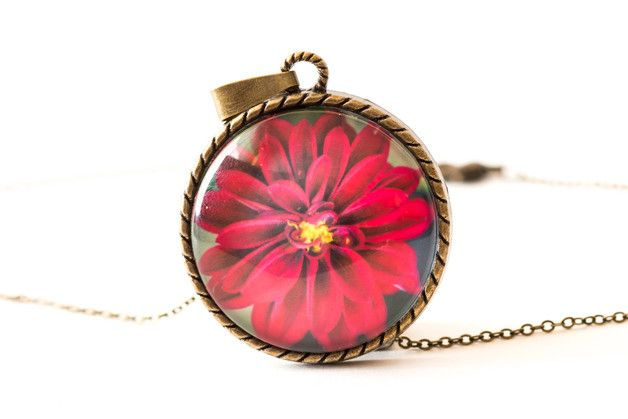 Charm Necklaces – Garden Flower Necklace – a unique product by Art-Of-Nature on DaWanda