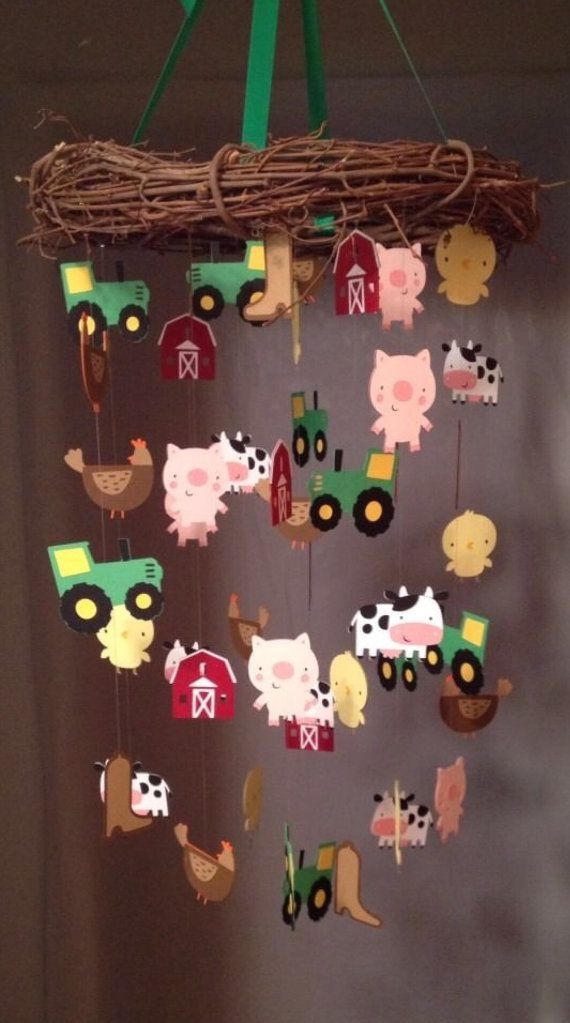 John Deere / Farm Mobile by 3LilCubsCreations on Etsy, $45.00