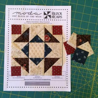 Our Moda Block Heads Block of the Week has gotten off to a fantastic start!    Lynne, Jo, Jan, Lisa, Carrie and I, ALL thank you!!!     ...