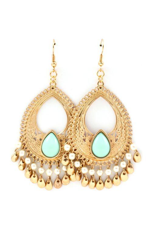 Minty Boho Chandelier Earrings | Emma Stine Jewelry Earrings