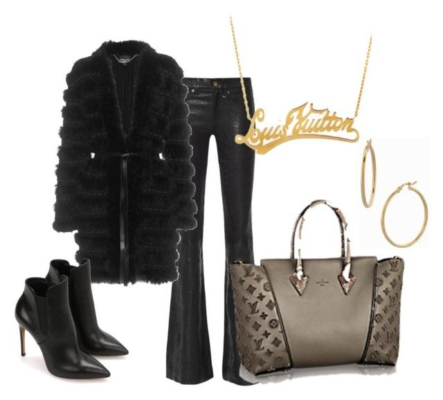 www.fashionyouknow.se by sofie-wester on Polyvore featuring Just Cavalli, rag & bone, Bony Levy and Louis Vuitton