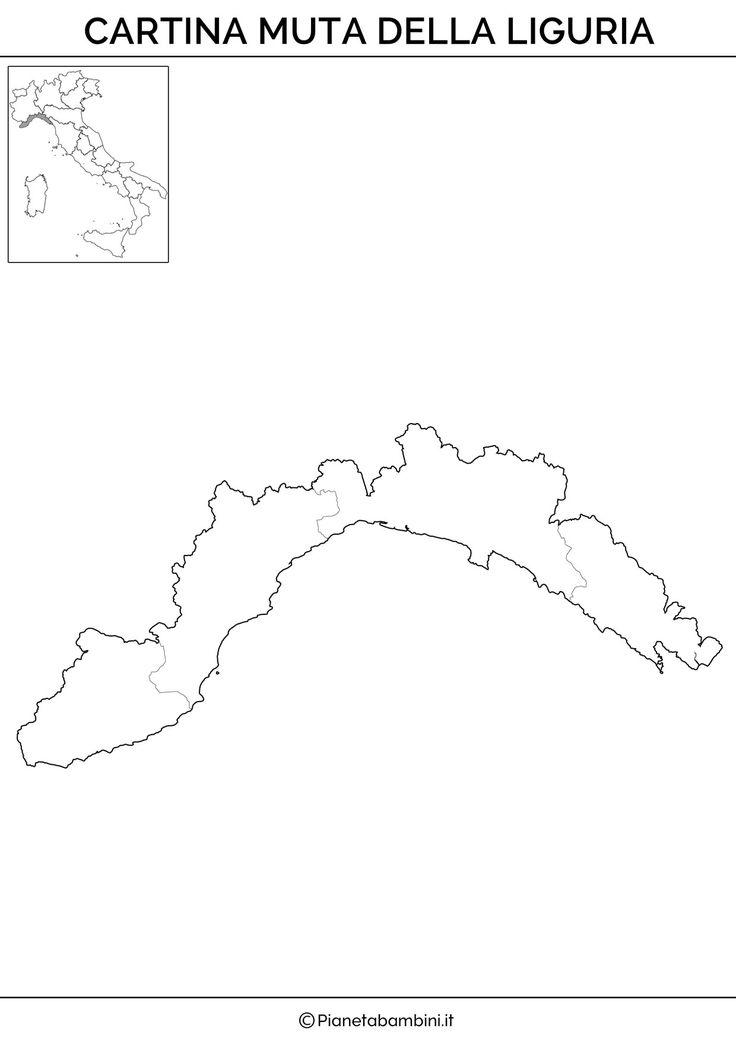 Cartina Muta Liguria