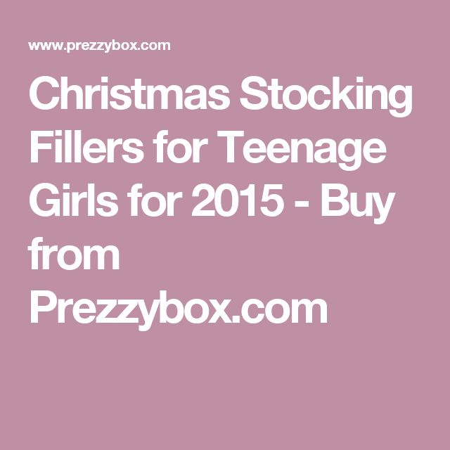 Christmas Stocking Fillers for Teenage Girls for 2015 - Buy from Prezzybox.com