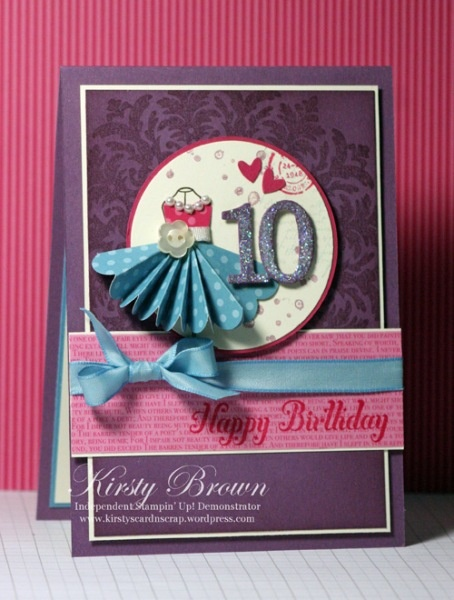 by Kirsty Borwn, Kirsty's Cards n' Scrapping-love the idea of dressing up my dressform stamps/dies for a new look