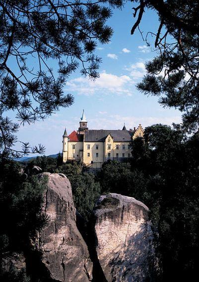 Hrubá Skála castle in Bohemian Paradise region (East Bohemia), Czechia