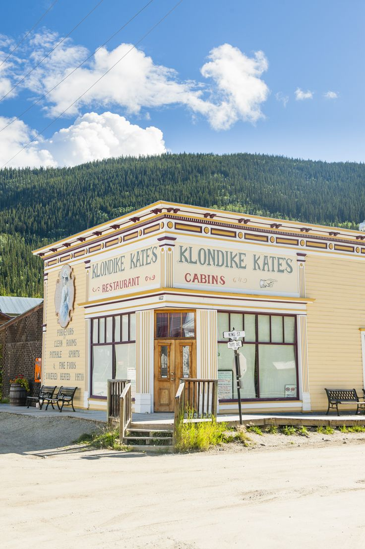 Cabins and a restaurant in Dawson City bear the name of Klondike Kate, one of the most famous dancers of the Gold Rush era © Justin Foulkes / Lonely Planet