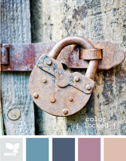 old lock. also an awesome colour palette