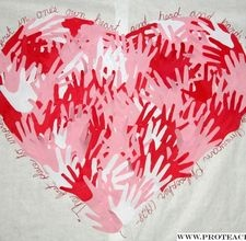 Cute Decoration for class V-day Party, or could use this for a mothers day activity too!