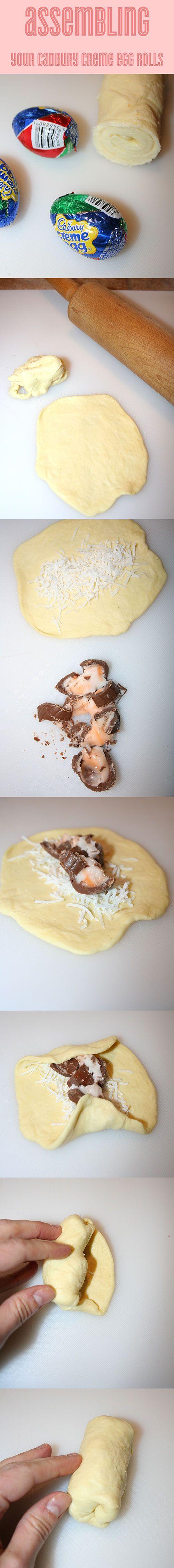 How to make Cadbury Creme Egg Rolls