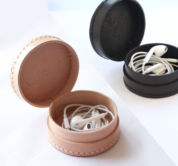 Small leather collar case box pouch wallet for от SeanSeanC