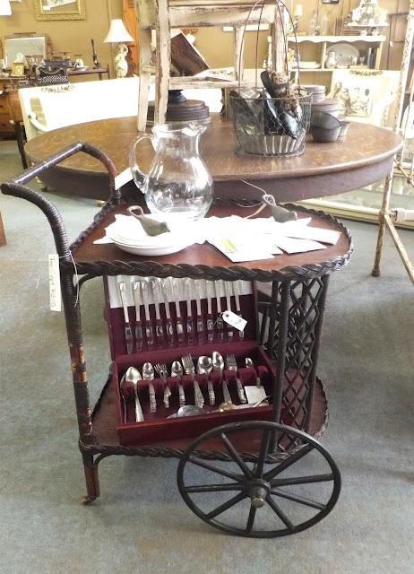 Vintage Wicker Tea Cart Cottage Must Haves Pinterest