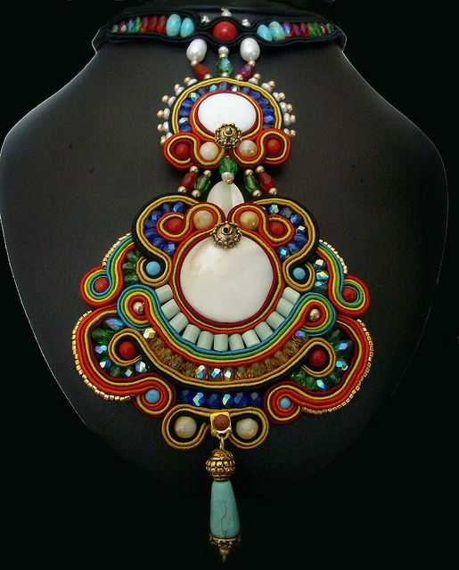 Amazing—soutache... repinned from Kalmbach board, it has a lot of great info/inspiration etc