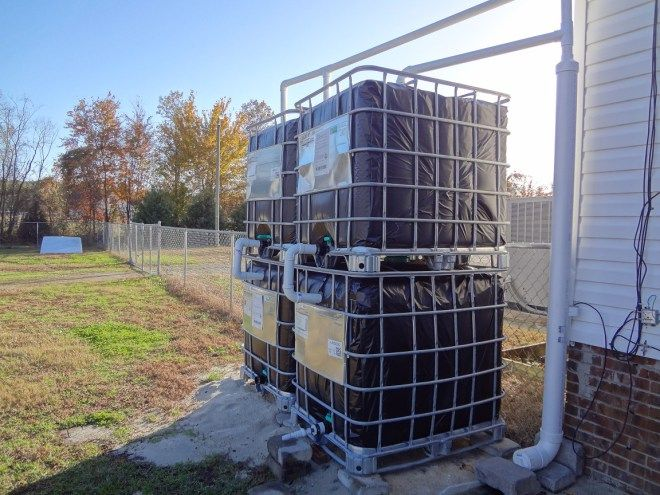 DIY IBC Totes for Water Collection / Rain Barrels