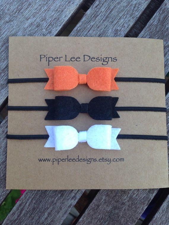 Halloween headband set 3 headbands baby by PiperLeeDesigns on Etsy