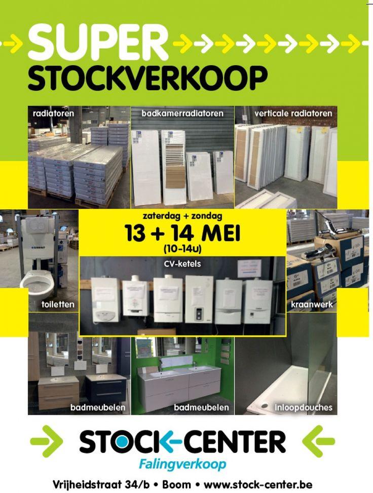Stockverkoop badmeubelen, radiatoren, Boom 13/05