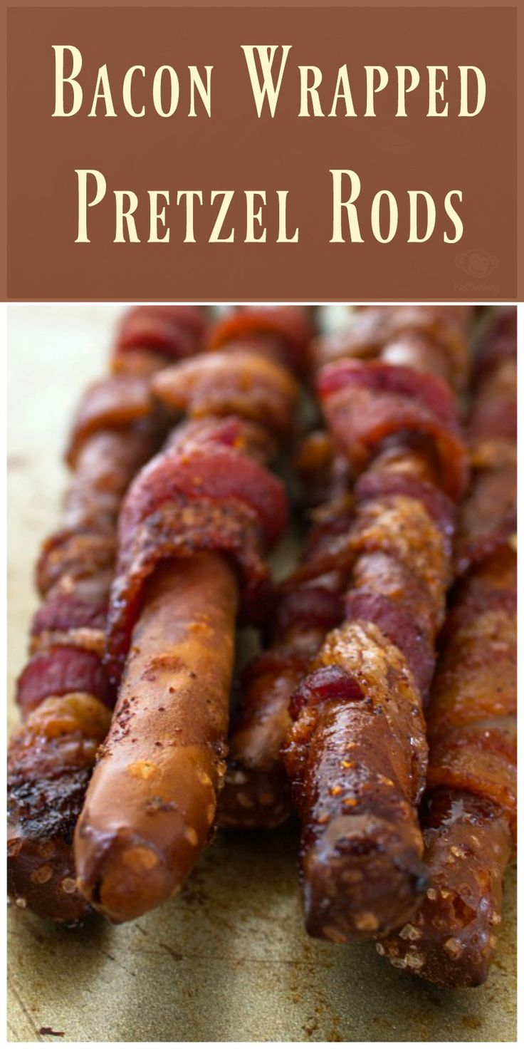 recipes pretzel food bacon wrapped rods drink appetizers football spicy delicious appetizer yummy warm sweet resist nobody sticks flavor snack