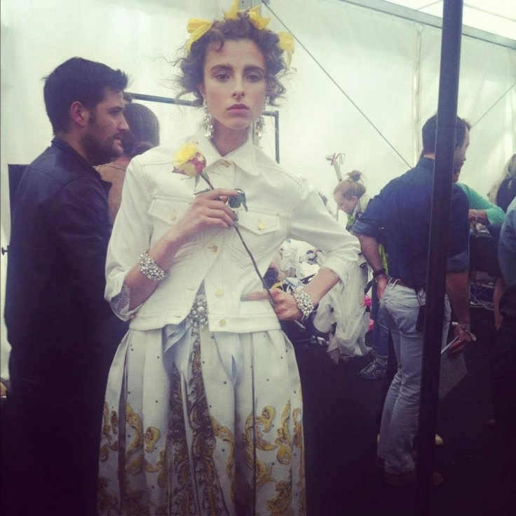 Gorgeous Isaac backstage at Meadham Kirchhoff SS13!