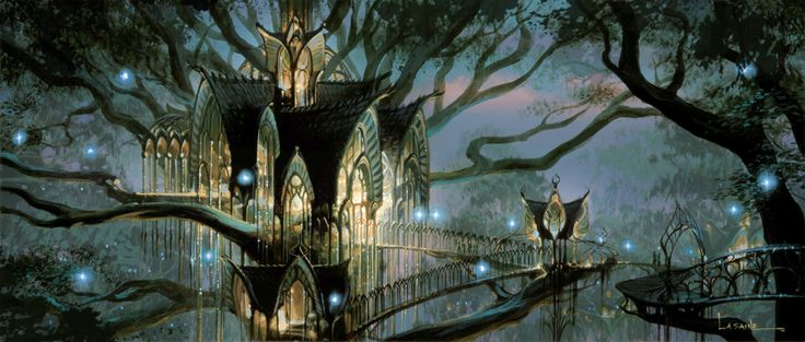 Lord of the Rings concept art by Paul Lasaine #lotr