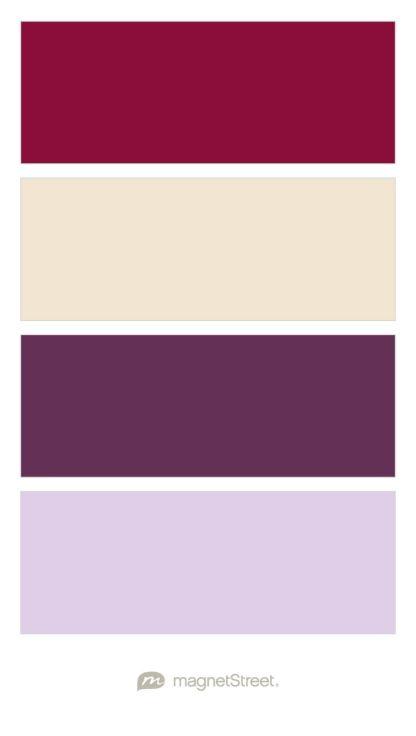 Burgundy, Champagne, Eggplant, and Lavender Wedding Color Palette - custom color palette created at MagnetStreet.com