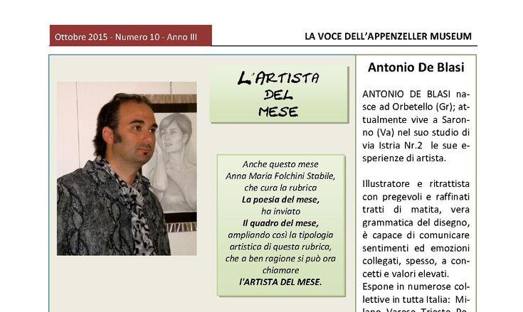 Ottobre 2015, n.10, La Voce dell'Appenzeller Museum - Antonio De Blasi, Il quadro del mese