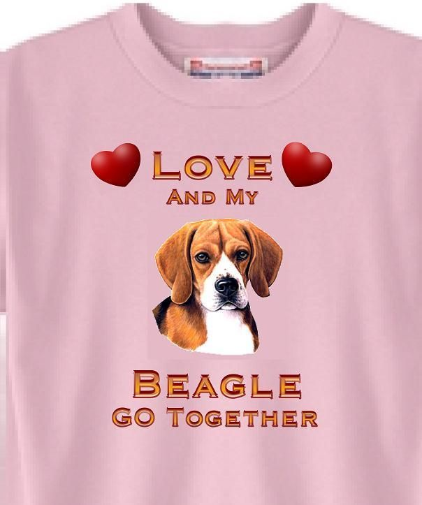 Dog T Shirt Love And My Beagle Go Together Adopt Rescue Animal
