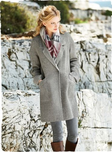 Pub Alpaca Coat - grey