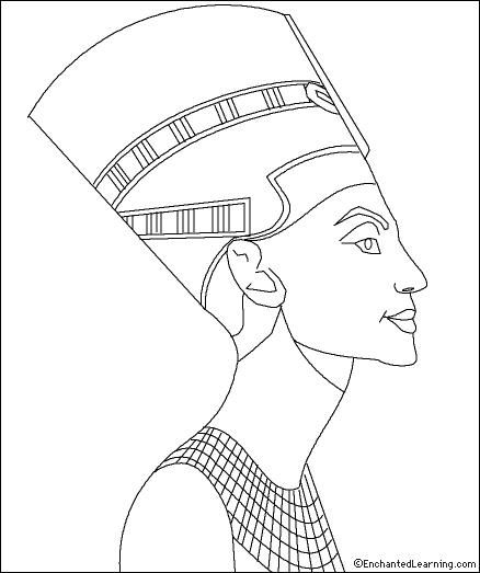 Queen Nefertiti Coloring Page: EnchantedLearning.com