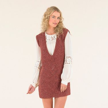 The Sublime Ashbury Dress from the Luxurious Tweed DK Book 673 # handknit