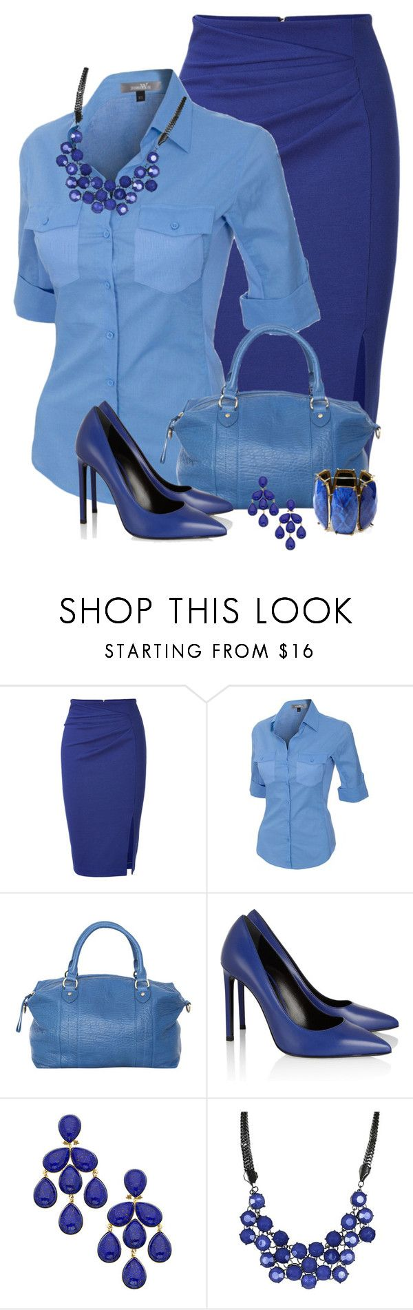 """Untitled #674"" by twinkle0088 ❤ liked on Polyvore featuring Blumarine, Status Anxiety, Yves Saint Laurent, Roberta Chiarella and Amrita Singh"