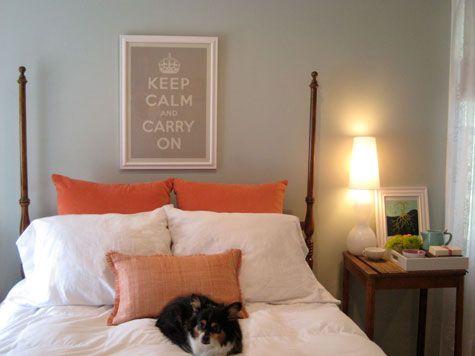 white coral gray bedroom elena via designsponge