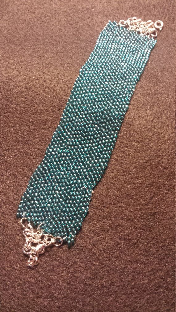 Hey, I found this really awesome Etsy listing at https://www.etsy.com/listing/474925788/peyote-turquoise-bracelet