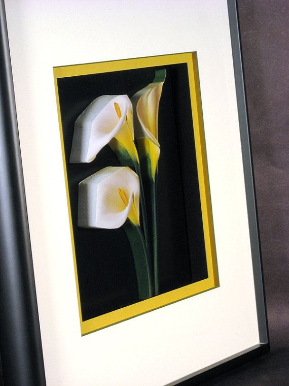 #CallaLilies #3DArt by #CiracoFramers on #Etsy #Beautiful #Framed #Flowers #framedart #natureart