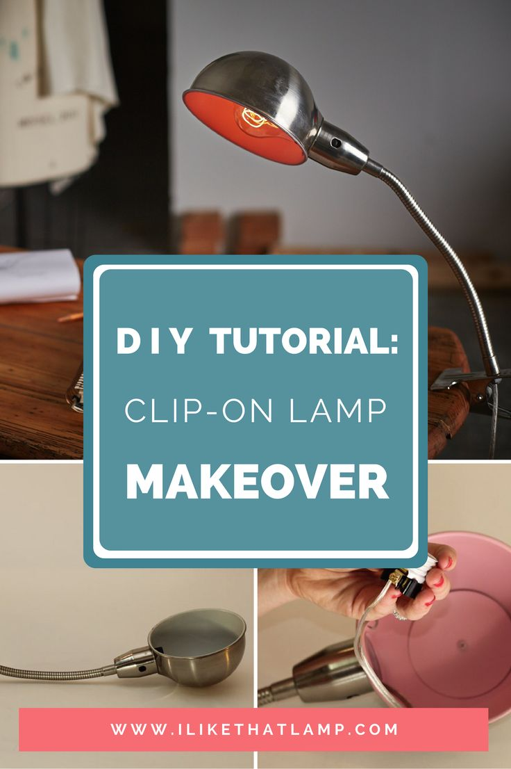Learn how to give a clip-on desk lamp a full DIY makeover. Full tutorial at www.ilikethatlamp.com