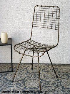 Chaise métal Soho (lot de 2), déco atelier, Hanjel