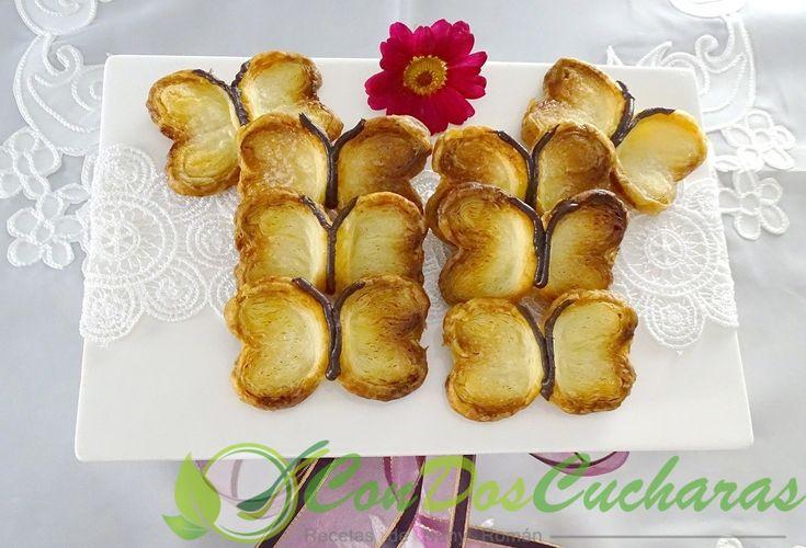 ConDosCucharas.com Mariposas de hojaldre - ConDosCucharas.com